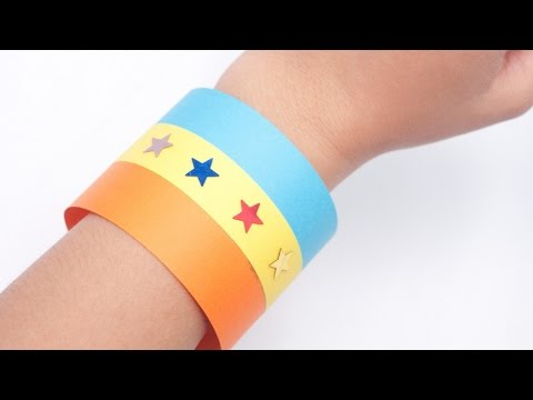 Make a Colorful Paper Wristband - DIY Crafts - Guidecentral