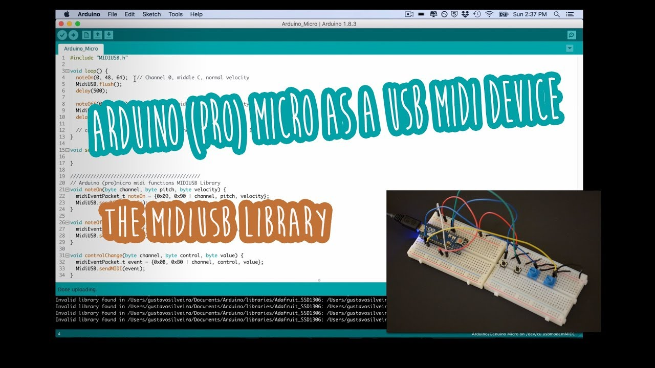#1 Arduino (Pro) micro as a USB-MIDI device - the MIDIUSB library