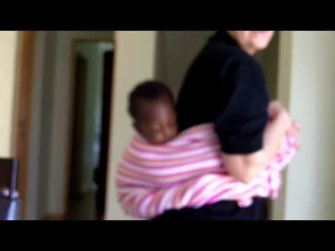 Svetlana Shows how African mothers(carry babies)