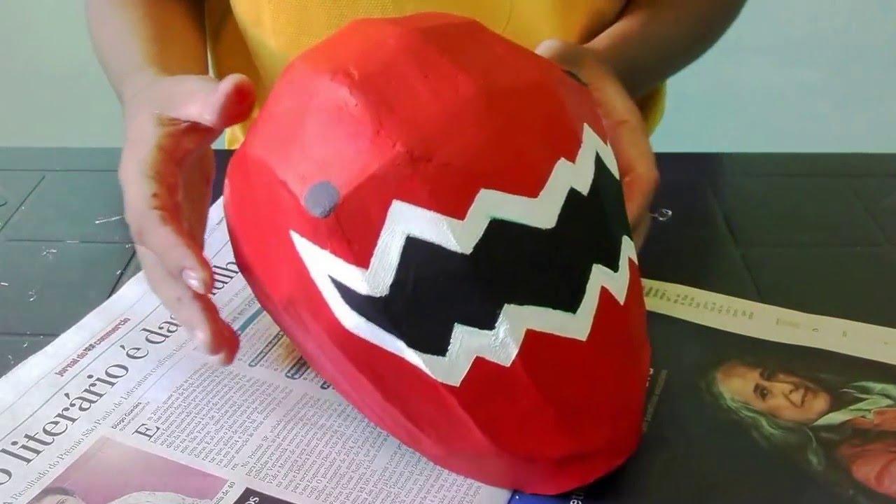 Como fazer o capacete dos Power rangers ! - YouTube