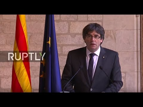 LIVE: Puigdemont gives statement on Catalan situation - ENGLISH