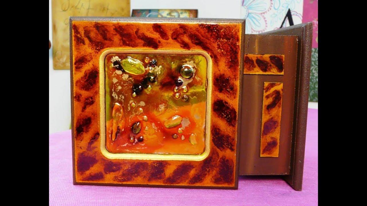 C mo decorar una caja con lacas vitrales youtube - Decorar madera con pintura ...