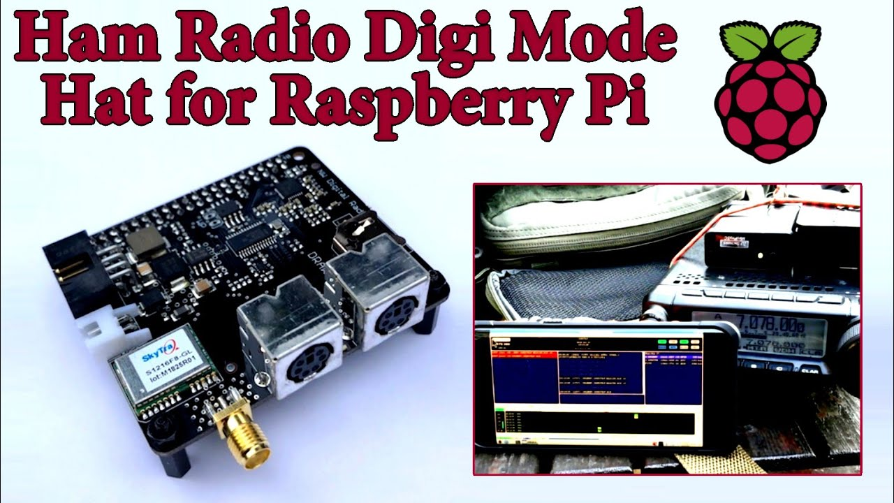 Ham Radio Digi Mode Hat for Raspberry Pi