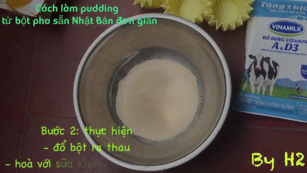 Cách làm thạch pudding từ bột pha sẵn Nhật Bản đơn giản