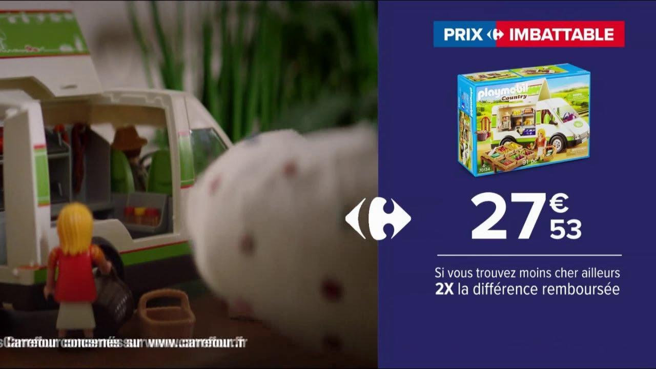 """Musique de la pub Carrefour Drive – prix imbattable """"camion de marché playmobil""""  2021"""