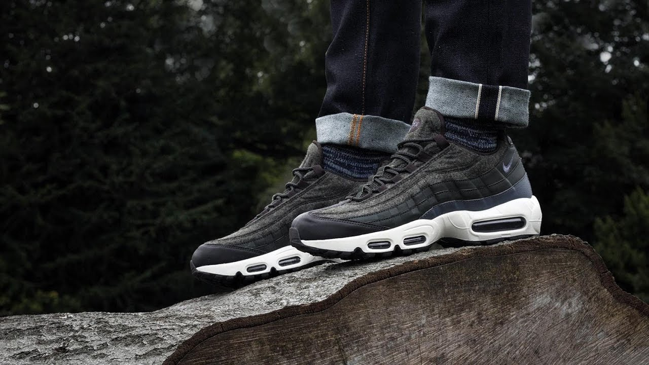 sports shoes a48b6 87bf0 ... buy nike air max 95 premium wool sequoia on foot 66bf0 36301
