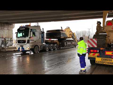 Loading And Transporting The Cat 375 - Heavy Transports
