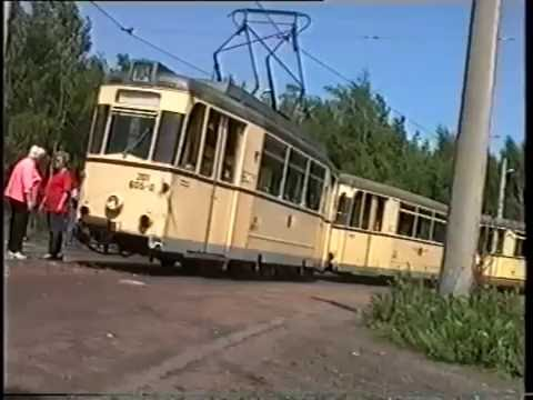 Mit dem Gothawagen T57 durch Dresden im Jahre 1994