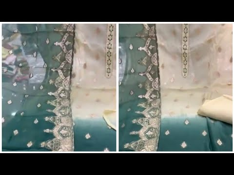 Swarovski Work Suits With Organza Dupatta    Fashion Femina Ludhiana