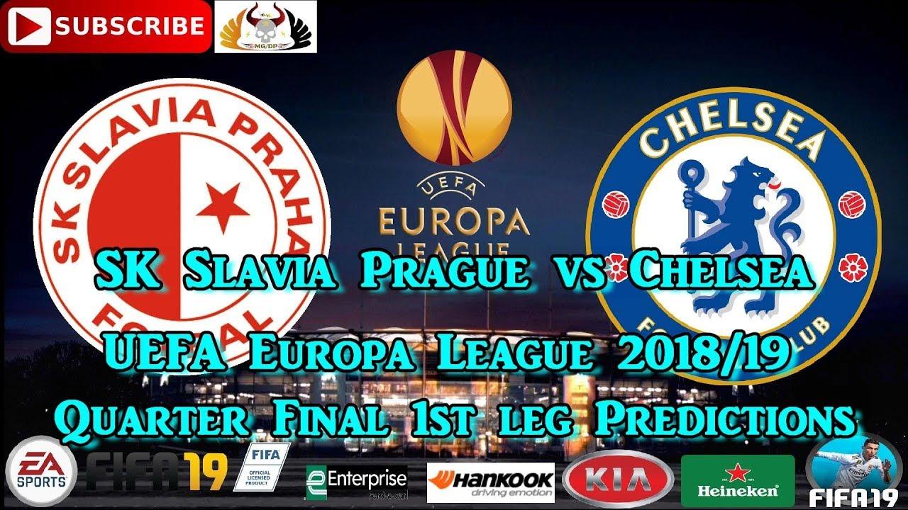 SK Slavia Prague vs Chelsea   UEFA Europa League 2018-19 Quarter Final  Predictions FIFA 19