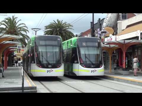 Trams at the new Acland Street Terminus (Route 96) - Melbourne Transport