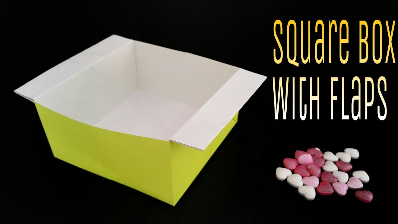 "How to make a ""Square Box / Container with Flaps"" using A4 ... - photo#4"