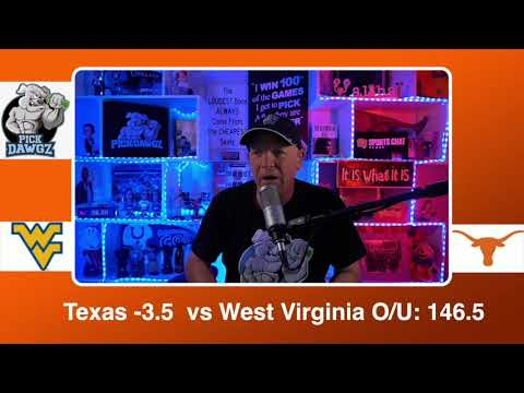 Texas vs West Virginia 2/20/21 Free College Basketball Pick and Prediction CBB Betting Tips