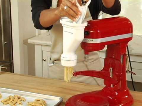 Kitchen Aid Pasta White Lacquer Cabinets Kitchenaid Press Attachment Youtube