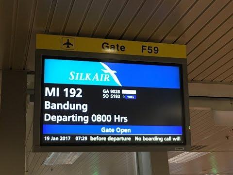 Silkair A320 | MI192 Singapore (SIN) to Bandung (BDO) | SATS Premier Lounge at Changi Airport T2