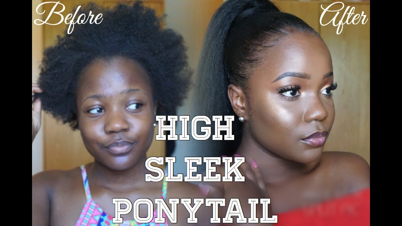 Less Than 15 How To Sleek Ponytail With Thin Edges Short 4c