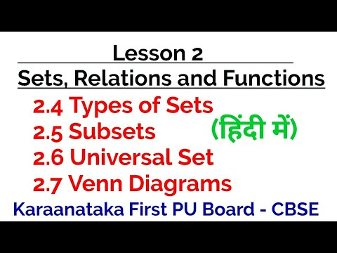 Subsets Power Sets Universal Set Venn Diagram In Hindi Set