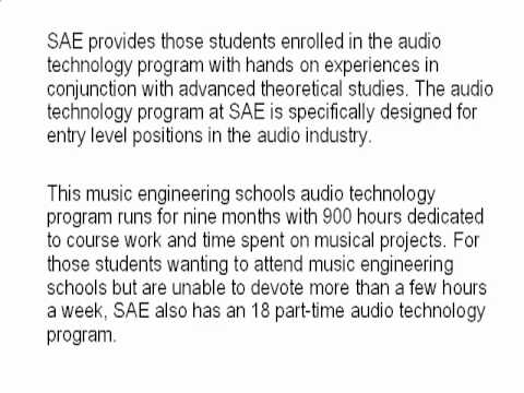Music Engineering Schools- Is this what you need?