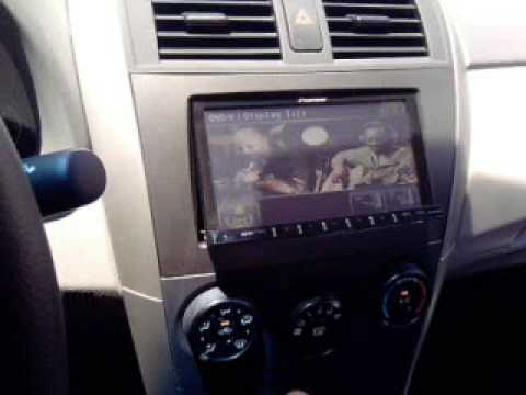 Novo Corolla Dvd Pioneer 4180 Youtube