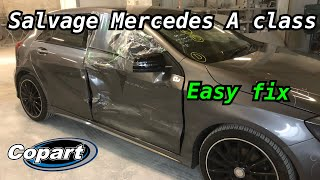 Repairing a Salvage / damaged Mercedes A class Copart uk / quick fix start to finish