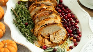 Turkey Roulade Stuffed with Feta & Roasted Red Peppers