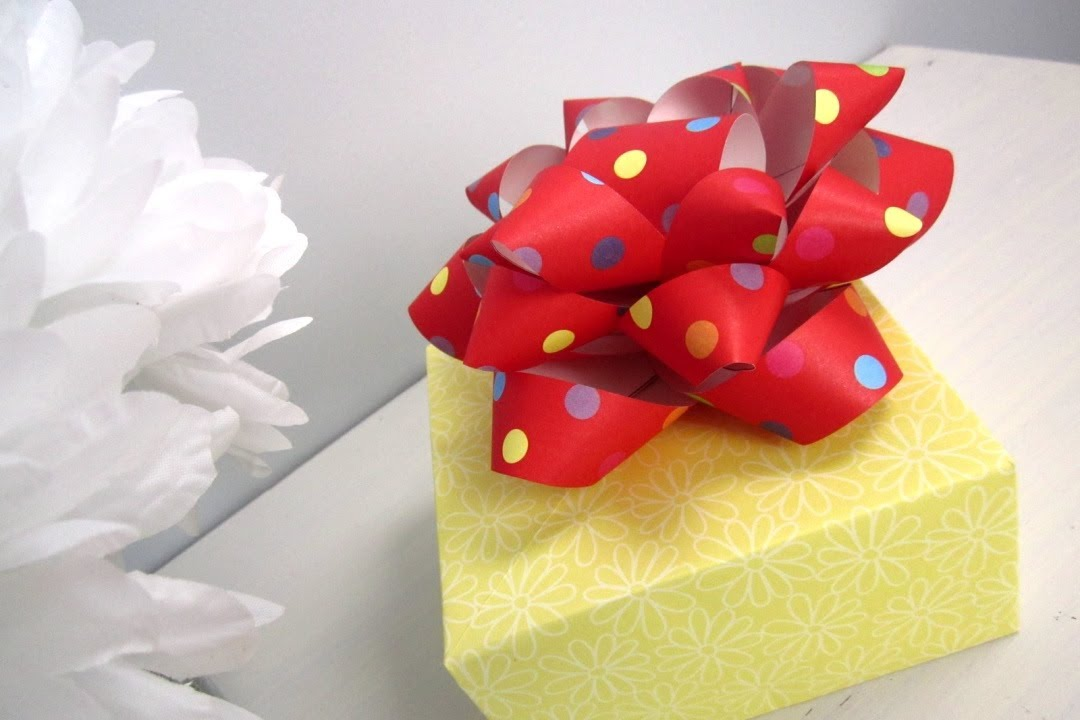 Diy christmasdiy paper gift bow youtube diy christmasdiy paper gift bow youtube negle Image collections