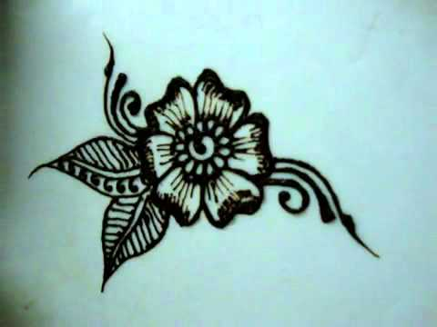 How to draw Floral Henna design for beginner - YouTube.FLV by ...