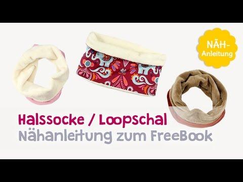 Halssocke nähen: Kostenloses Schnittmuster Halssocke / Schlupfschal ...