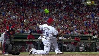 WS2011 Gm5: Beltre belts a homer from one knee