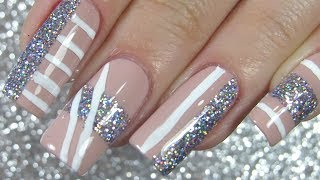 Easy Christmas Nails Ideas Glitter For Holidays Nails ✨💎💫 Vlogmas 16