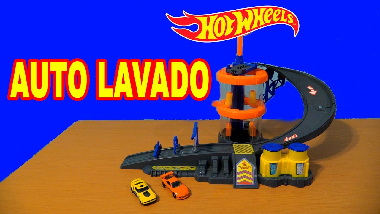 Hot Wheels Set Autolavado De Triple Accion Review Youtube