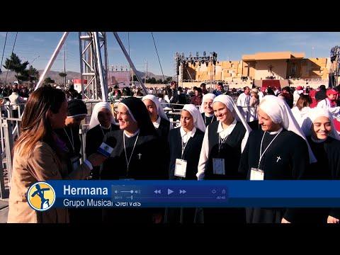 El Papa visita Ciudad Juárez y las Siervas hacen lío con su música