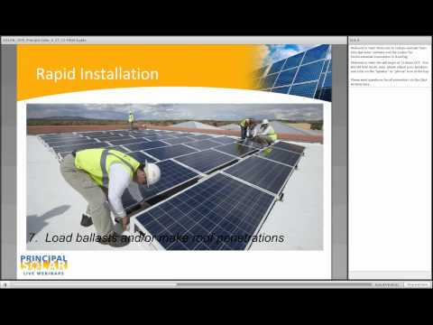 PV SOLAR ROOF RACKING: Current Issues and State-of-the-Art Solutions (Audio and Webinar Recording)