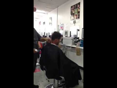 Barber State board haircut at international academy part 1 - YouTube
