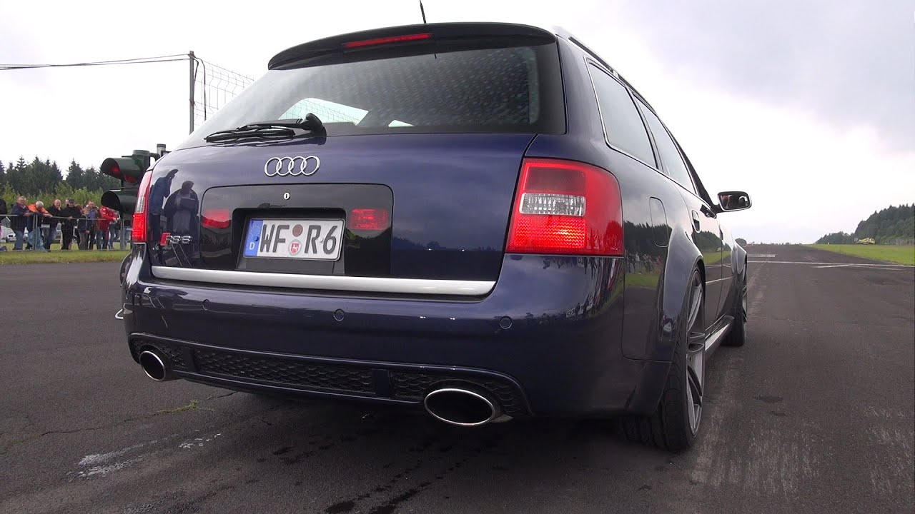 Audi Rs6 Avant C5 4 2l V8 Biturbo Exhaust Sounds Youtube