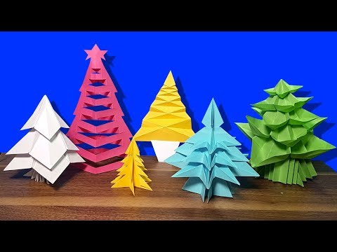 6 Idea Easy Paper Christmas Decorations Christmas Tree Making With Color Paper CaTa Crafts