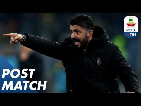 Roma 1-1 Milan | Di Francesco & Gattuso Post Match Press Conference | Serie A