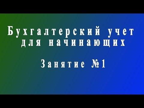 видео: Бухучет для начинающих. Занятие №1