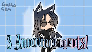 3 Announcements! (A contest and more!) ~ Gacha Gëm