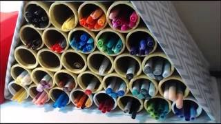 DIY- Markers Organizer - Back To School - CARDBOARD IDEAS -