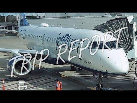 jetBlue Airways Embraer ERJ-190 Coach Trip Report / Flight Review [JAX to FLL]