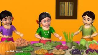 Kuragayalu - Vegetables - 3D Animation Telugu Rhymes for children
