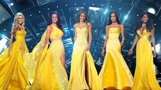 Miss Universe & Miss USA - Yellow Evening Gown