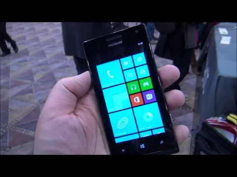Huawei Ascend W1 Windows Phone Hands on (CES 2013)