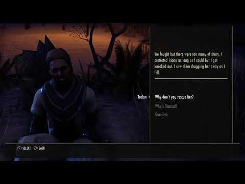 The Elder Scrolls Online - Late Night: Tralan Dialogue Tree (Iriana & Shamal Missing) PS4 Pro (2015)