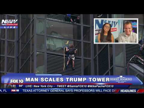 FNN: Livestream for Afternoon of August 10, 2016 - Man Climbs Trump Tower