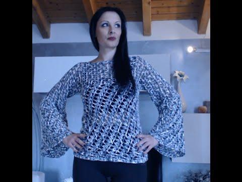 Youtube All'uncinetto Maniche Larghe Donna Di 2 Maglione n0qHw7YCx