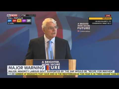 Sir John Major Warns Of 'Recipe For Mayhem'