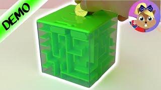 Detská pokladnička s hlavolamom | Labyrint na peniaze | Pokladnička pre deti | Pokladnička labyrint