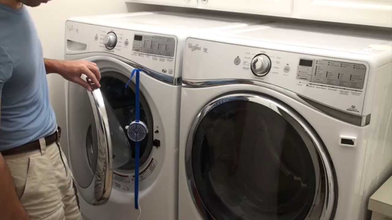 Washer Fan Breeze Installed With Straps On Front Load